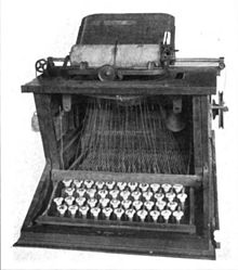 1st commercialized (really) qwerty typewriter