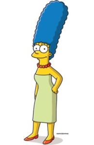 Marge Simpson with her yellow skin color