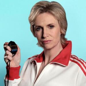 Sue Sylvester from the TV series Glee