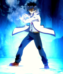 Grey Fullbuster from the anime series Fairy Tail