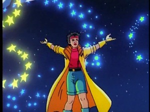 Jubilee from the X-Men animated series and her yelllow coat
