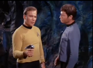 Captain Kirk and Bones McCoy