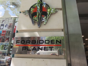 Forbidden Planet logo and sign