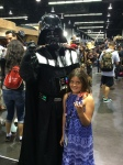 Fangirl Riley with Darth Vader