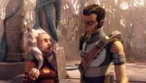 Ahsoka Tano with Saw Gerrera in Star Wars: The Clone Wars