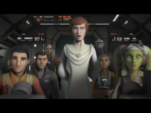 Mon Mothma on board The Ghost