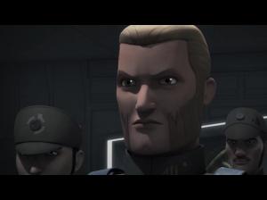 Agent Kallus looking worried