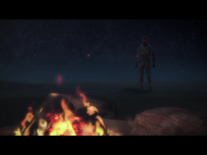 Maul approaches the fire