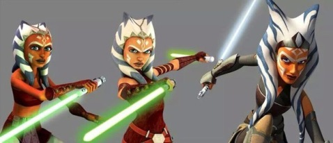 Ahsoka Tano's Character Designs over the years credit Lucasfilm Ltd
