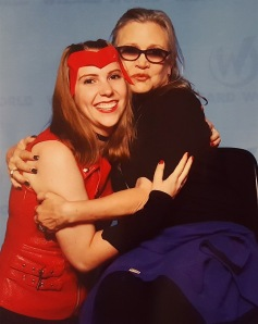 Kat with the late Carrie Fisher
