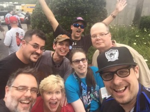 Part of my Star Wars Family waiting in line for 501st goodie bags picture by Kevin M. Reitzel
