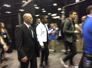 John Boyega on his way to the Star Wars Show Live Stage