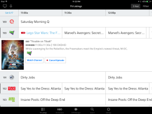 As you can see, I have already set my DVR thanks to the Xfinity App!