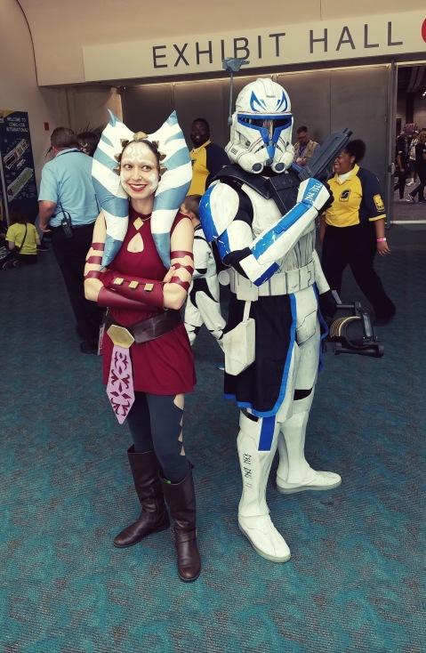 Allyson as Ahsoka Tano with Captain Rex