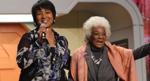 Dr. Mae Jemison and Nichelle Nichols Credit: Star Trek.com