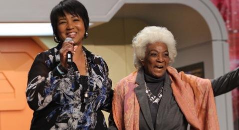 Dr. Mae Jemison and Nichelle Nichols Credit: Star Trek.com