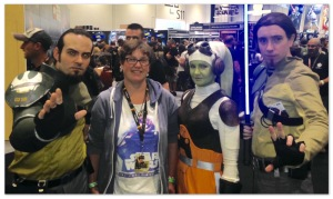 2TimesMum with members of The Ghost Crew at Star Wars Celebration Europe in 2016