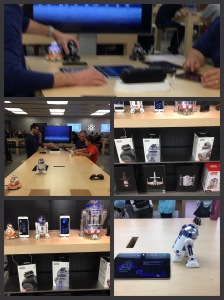 Droids and Demos at The Apple Store