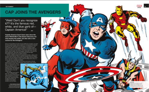 Key Moment spread from Ultimate Marvel image via DK Books